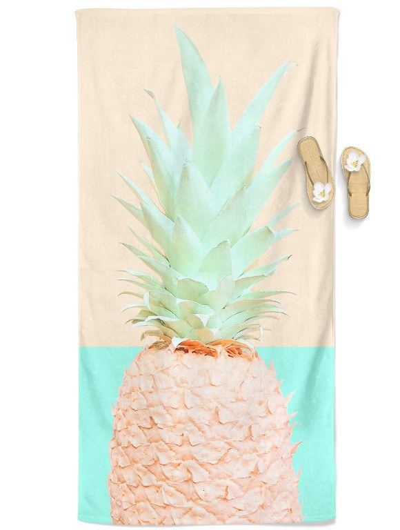 Fineapple Beach Throw Towel Electro Threads Orange