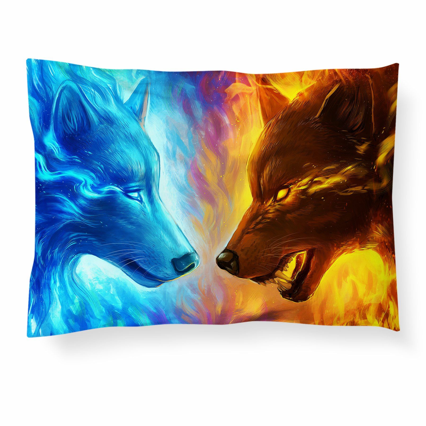 Fire and Ice Pillowcase Pillowcase Electro Threads