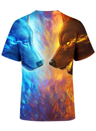 Fire and Ice Unisex Crew T-Shirts T6