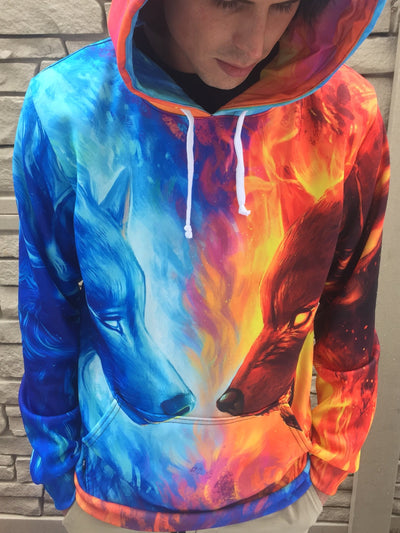 Fire and Ice Unisex Hoodie Pullover Hoodies T6