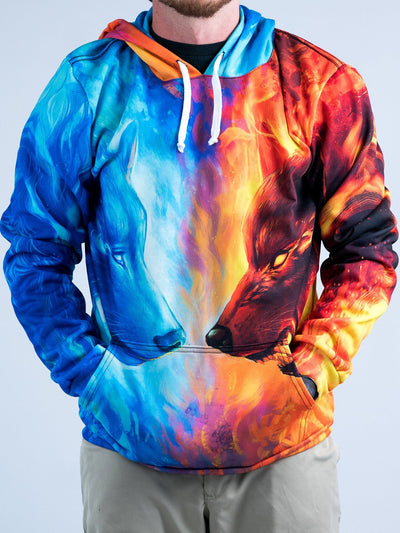 Fire and Ice Unisex Hoodie Pullover Hoodies T6 XS Orange Pullover Hoodie