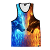 Fire and Ice Unisex Tank Tank Tops T6