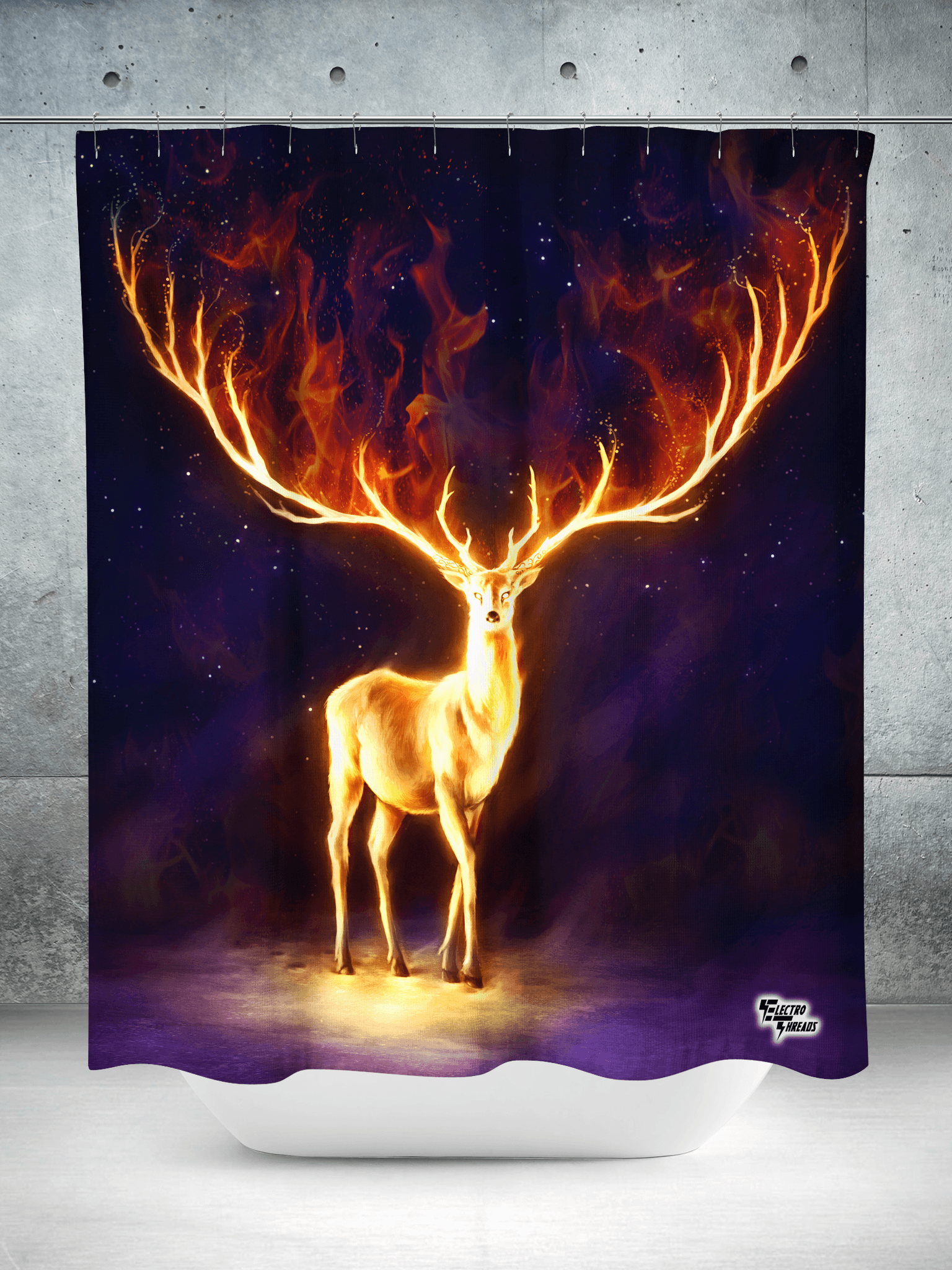 Fire Walker Shower Curtain Shower Curtains Electro Threads