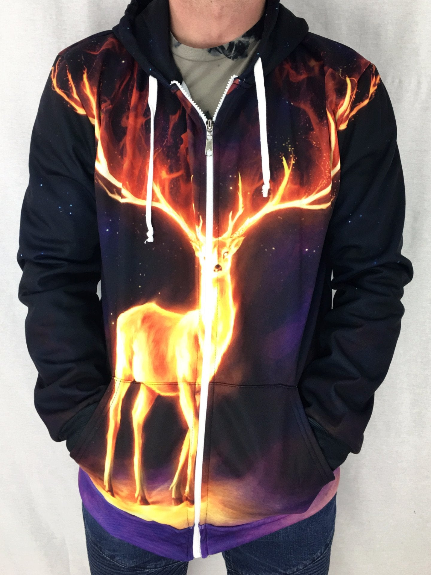 Fire Walker Unisex Zip Hoodie Pullover Hoodies T6