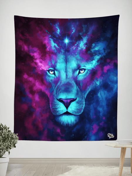 "Firstborn Tapestry Tapestry Electro Threads SMALL: 32"" x 42"" Purple"