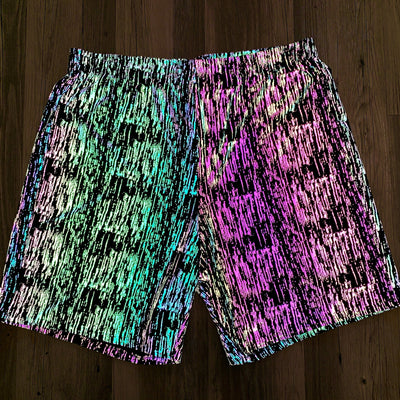 Flash On Unisex Shorts Mens Shorts Electro Threads