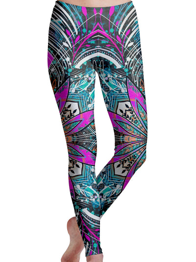 Floral Burst Leggings Leggings Electro Threads