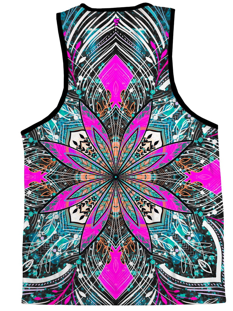 Floral Burst Unisex Tank Tank Tops Electro Threads