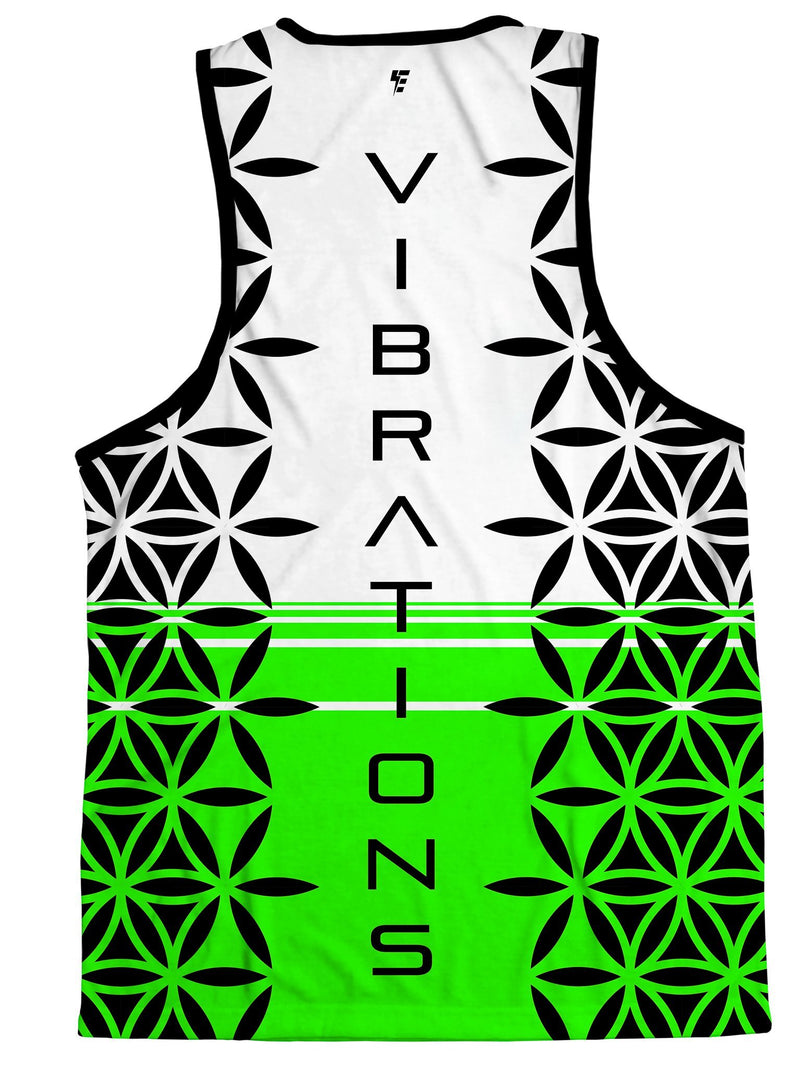Flow Vibrations (Neon Green) Tank Top Tank Tops Electro Threads