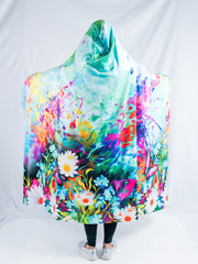 Flower Trip Hooded Blanket Hooded Blanket Electro Threads