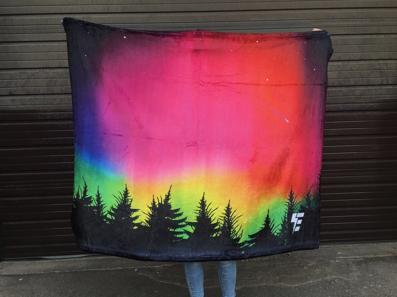 Forest Galaxy Blanket Blanket Electro Threads THROW 50 X 60 Micro Fleece
