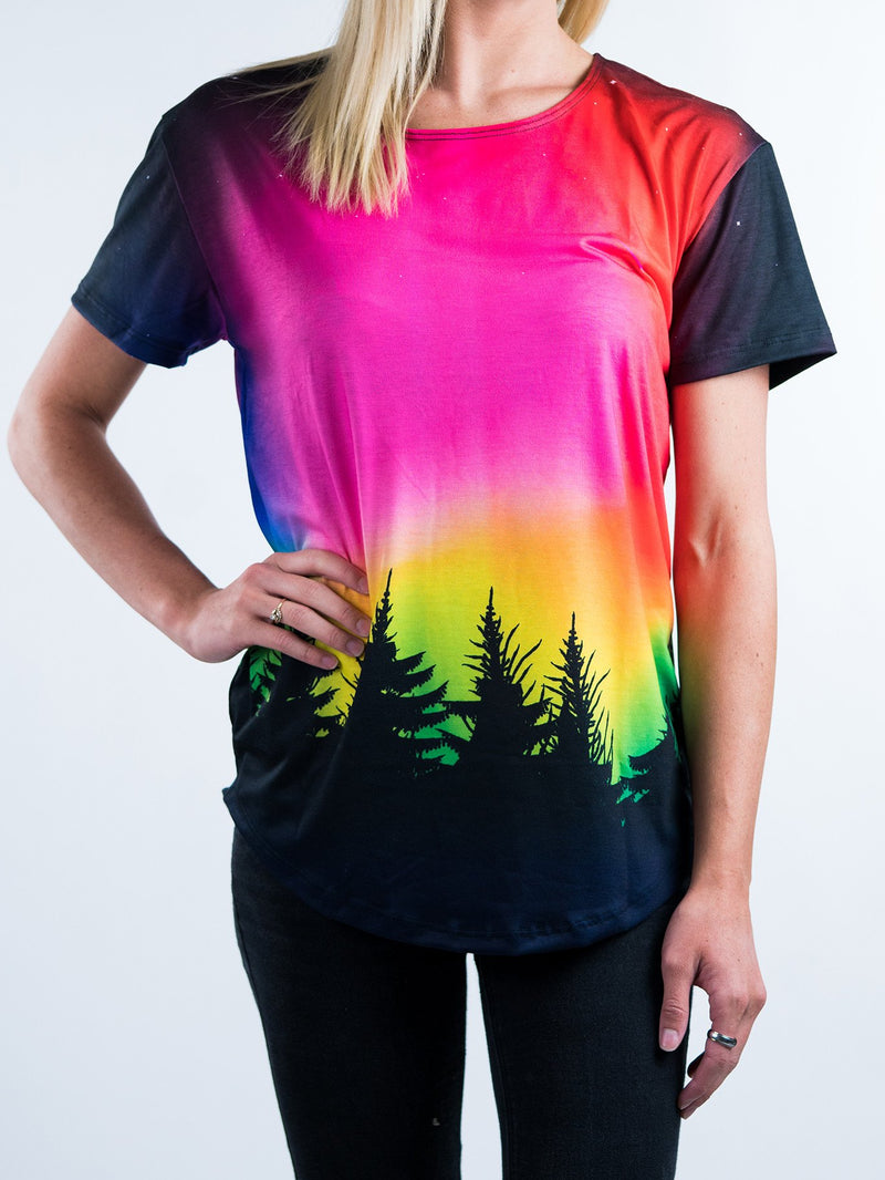 Forest Galaxy Scoop Tee T-Shirts T6