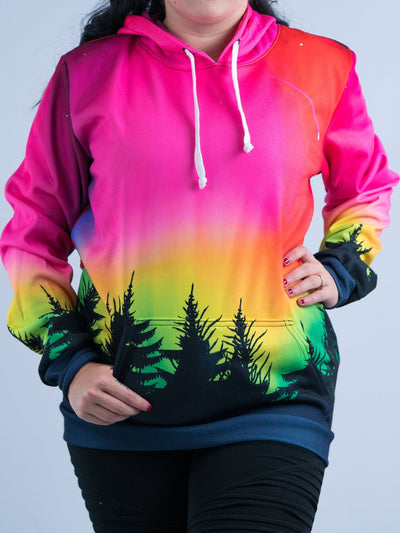 Forest Galaxy Unisex Hoodie Pullover Hoodies T6 X-Small Pink Pullover Hoodie