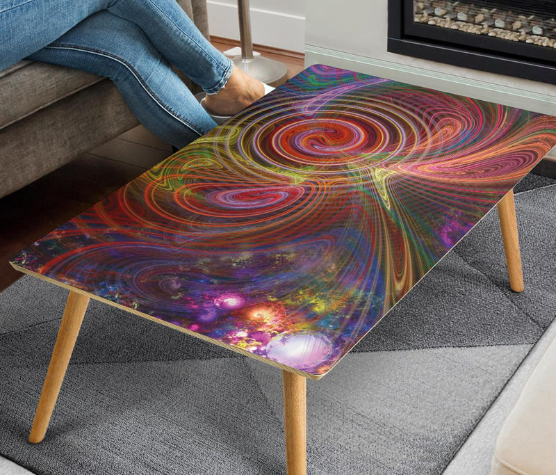 Fractal Cosmos 1 Coffee Table Coffee Table Electro Threads