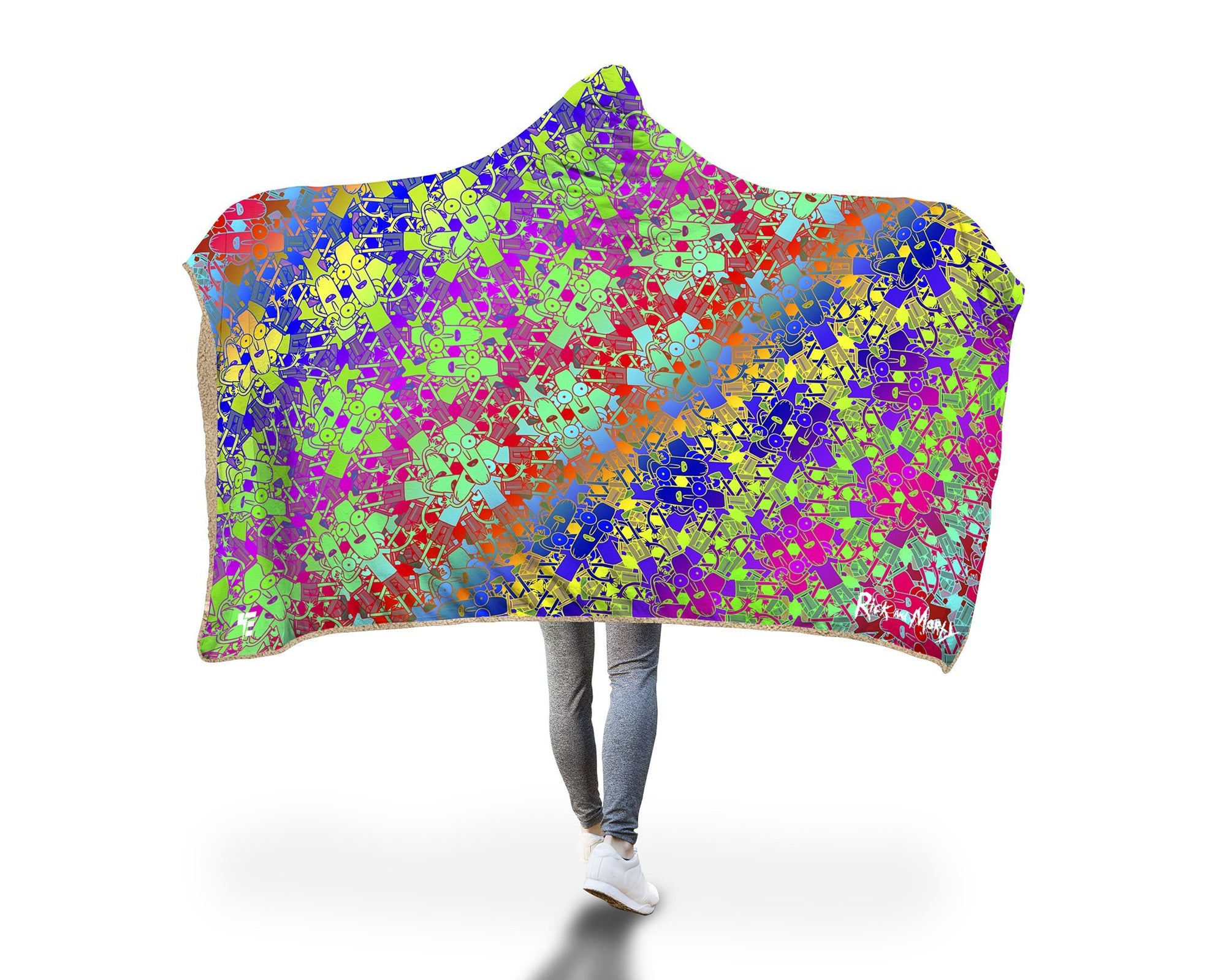 Fractal Mr. Poopy Butthole Hooded Blanket Hooded Blanket Electro Threads