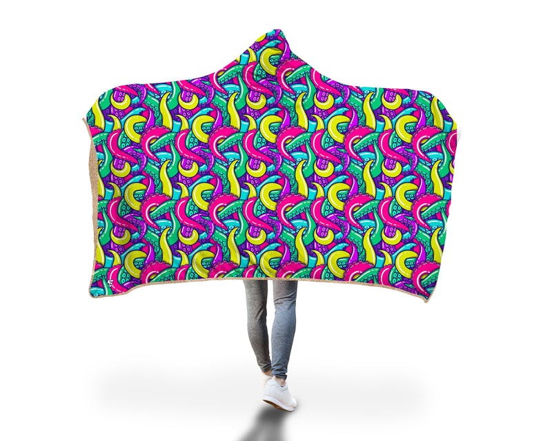 Free Hugs Hooded Blanket Hooded Blanket Electro Threads