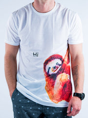 Friendly Sloth Unisex Crew T-Shirts Electro Threads