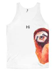 Friendly Sloth Unisex Tank Top Tank Tops Electro Threads
