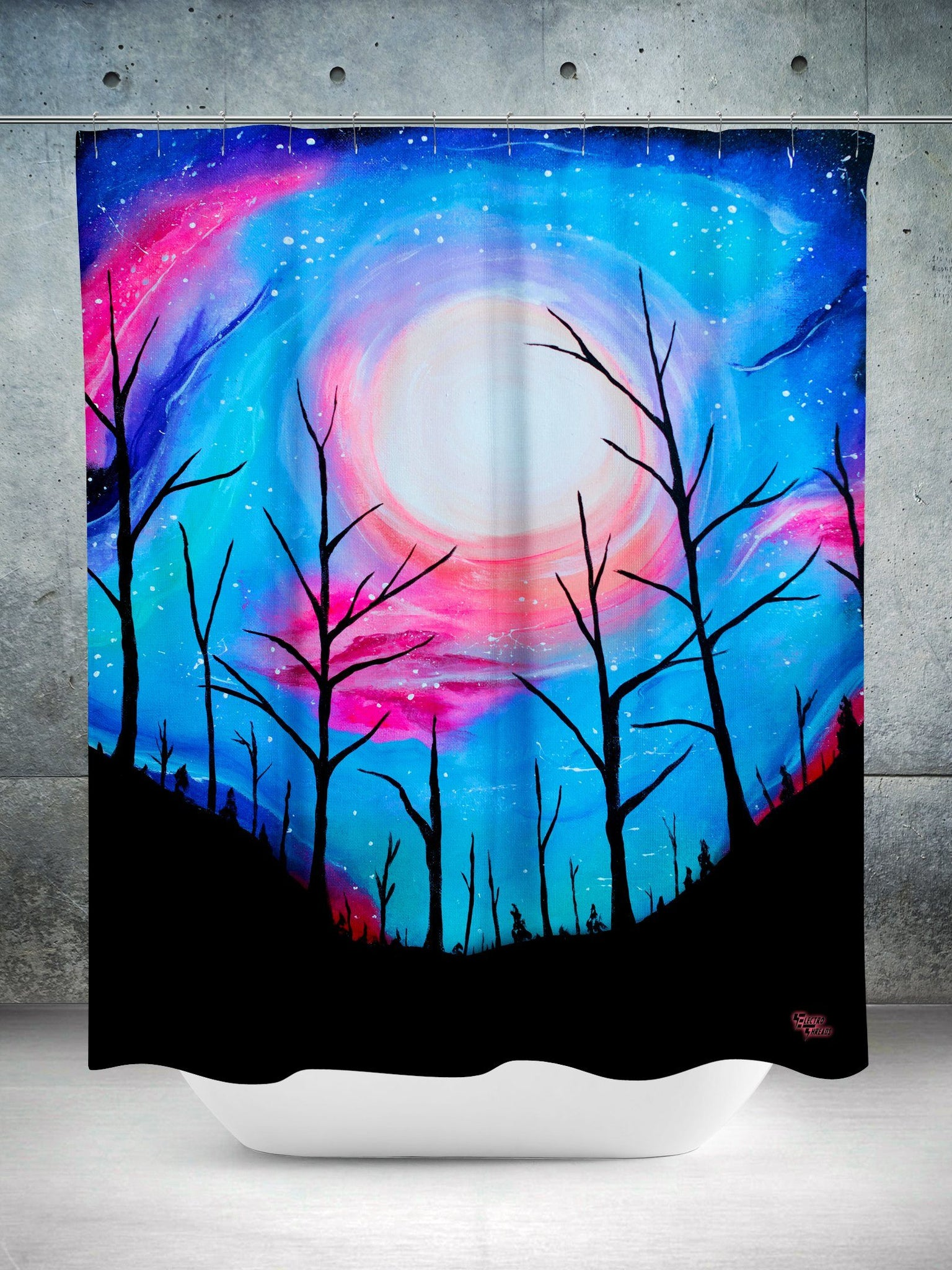 Full Moon Shower Curtain Shower Curtains Electro Threads