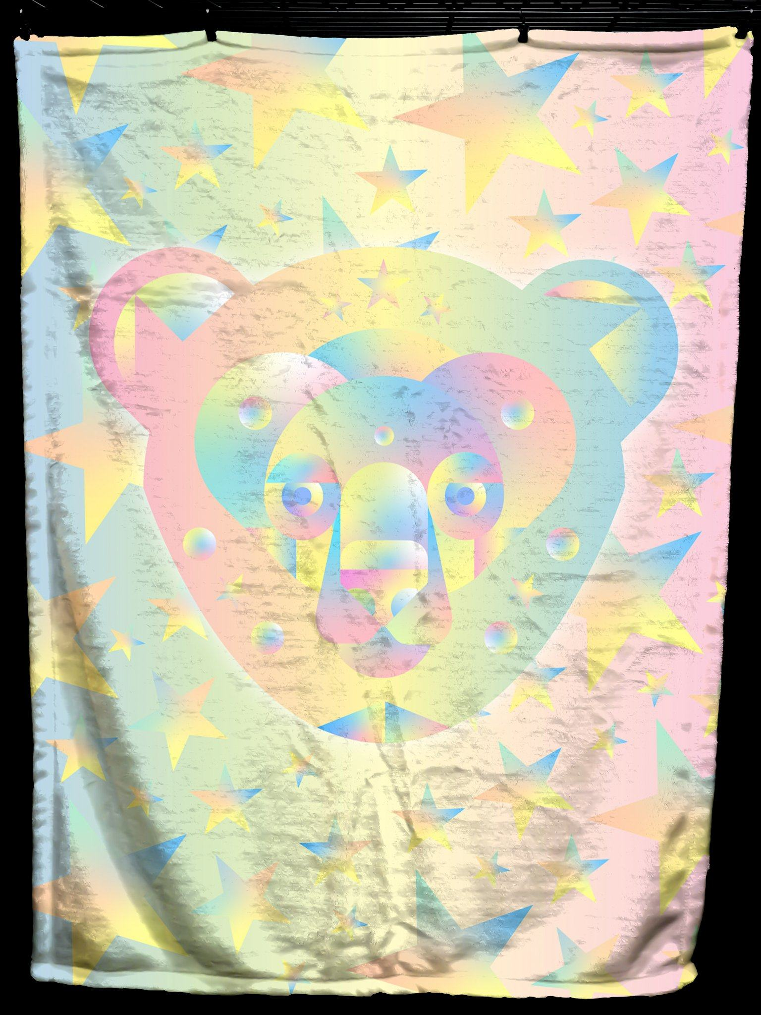 Galactic Bear Baby Blanket Baby Blanket Electro Threads