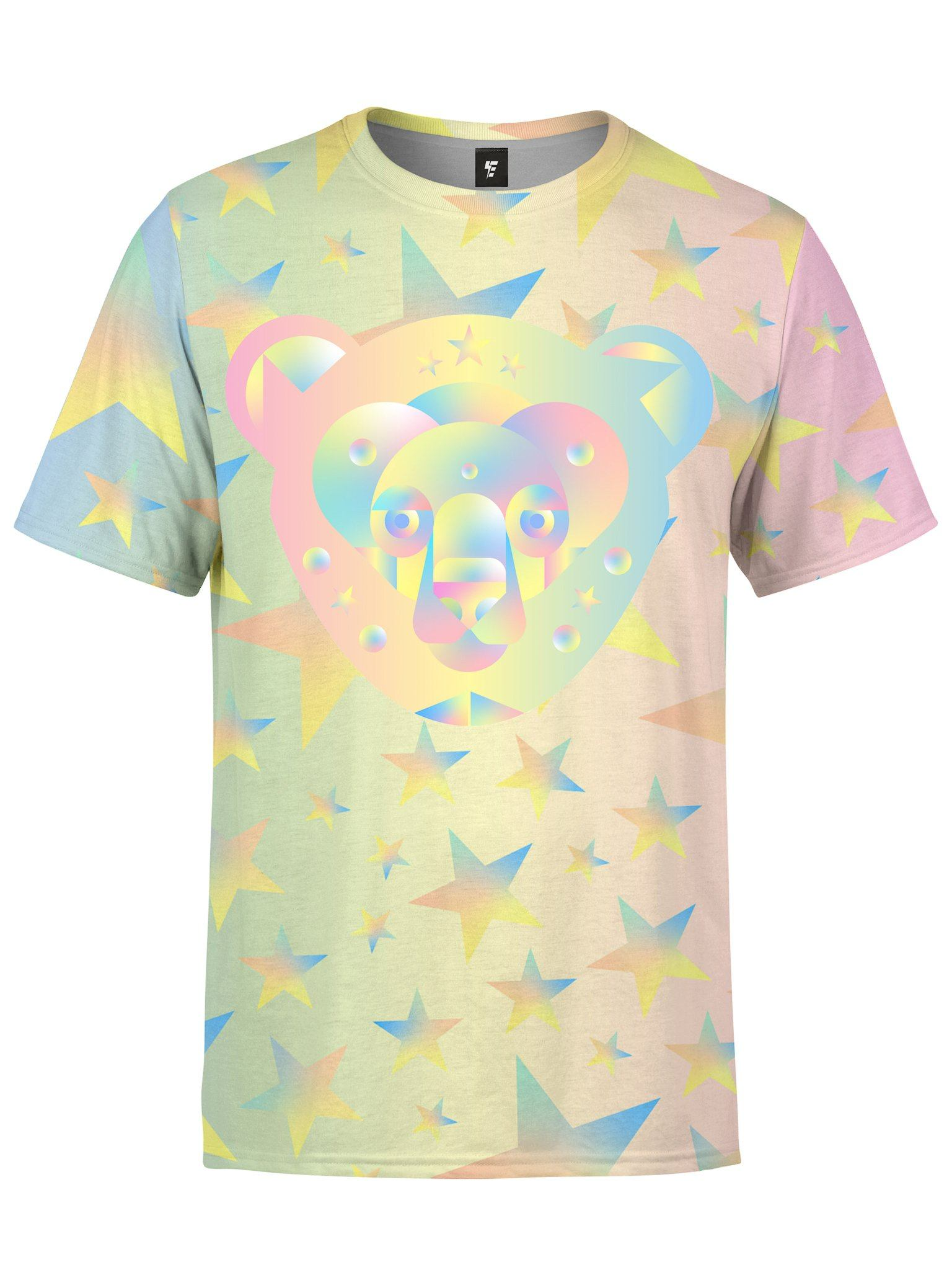 Galactic Bear Unisex Crew T-Shirts Electro Threads