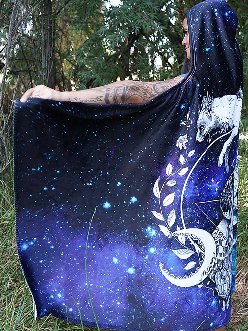 Galaxy Fox Hooded Blanket Hooded Blanket Electro Threads