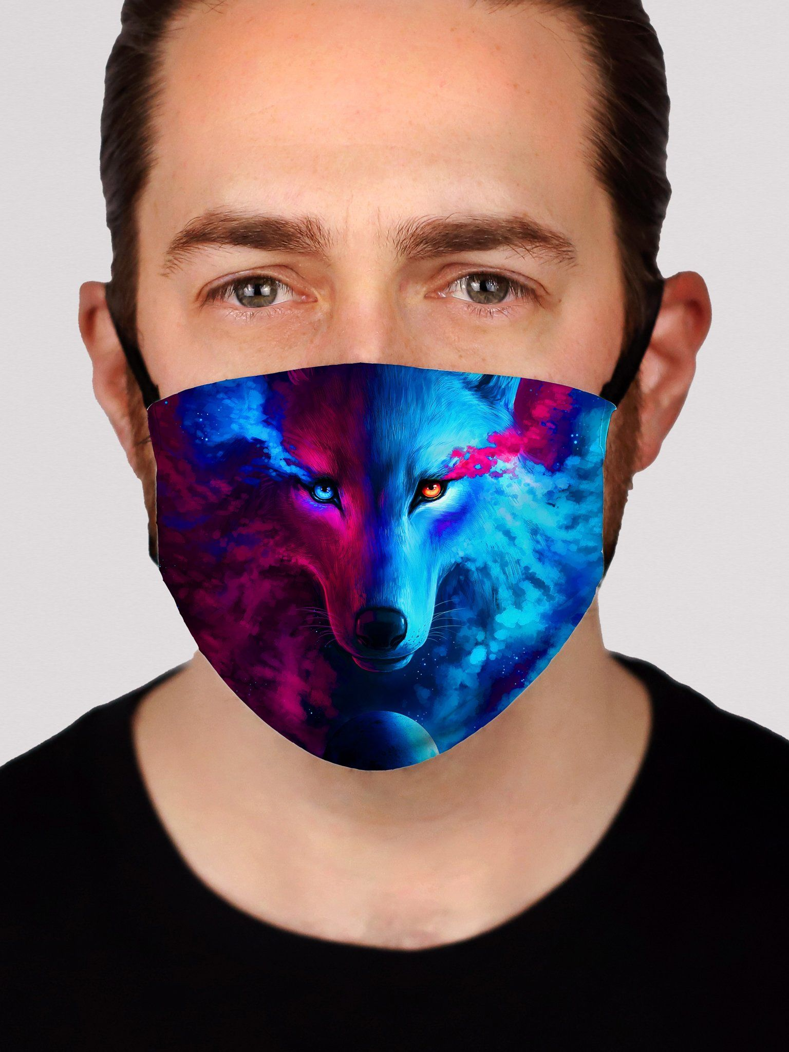 Galaxy Wolf Face Mask Face Masks Electro Threads