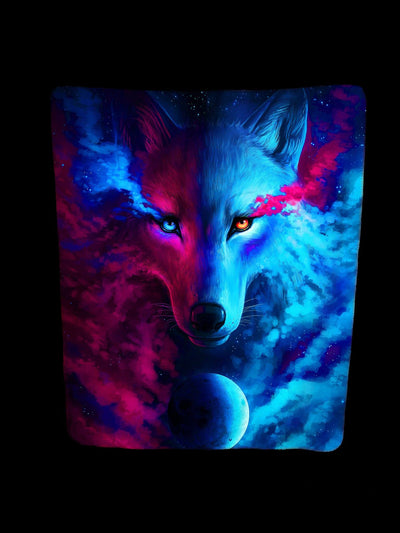 GALAXY WOLF FOOTSIE BLANKET Footed Blanket Electro Threads