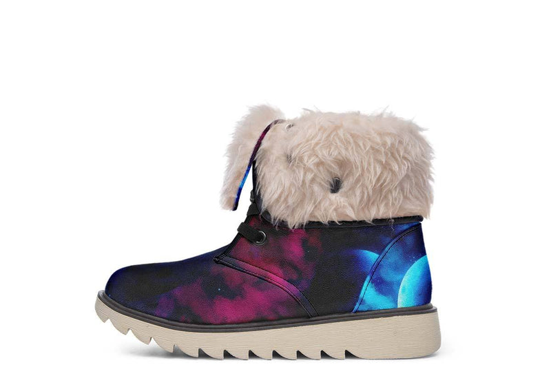 Galaxy Wolf Moon Boots YWF Women's Moon Boots Cream White Sole US 4.5 / EU35