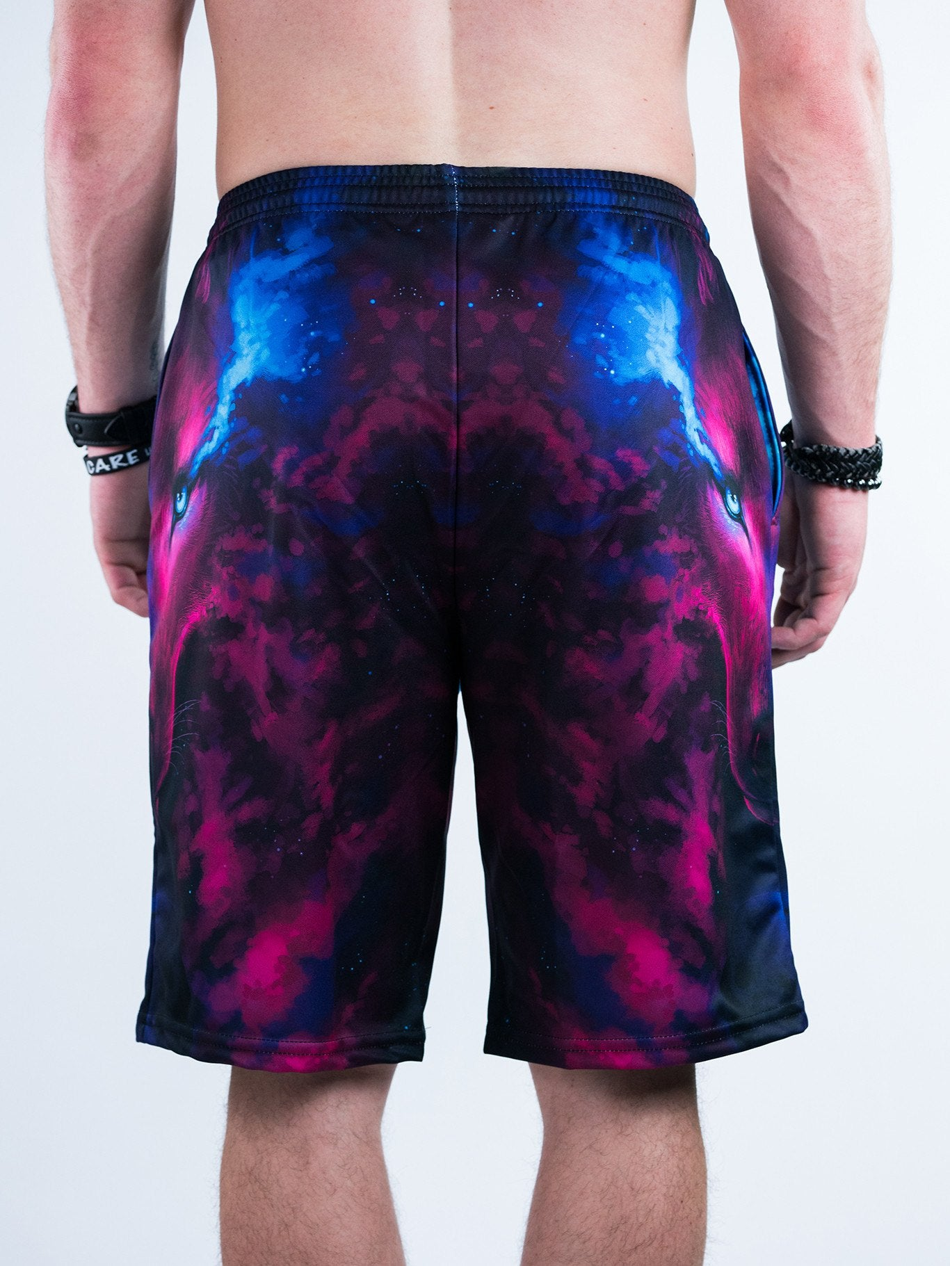 Galaxy Wolf Shorts Mens Shorts T6
