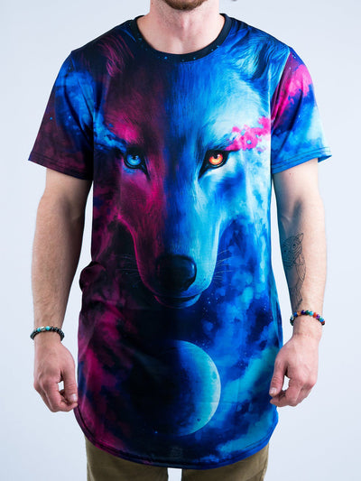 Galaxy Wolf Tall Tee Mens Tall Tee T6 XS BLUE