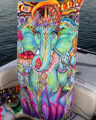 Ganesha Beach Throw Towel Electro Threads