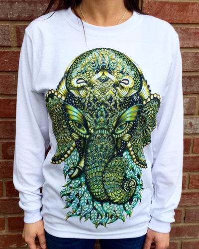 Ganesha Unisex Long Sleeve Shirt Long Sleeve Electro Threads