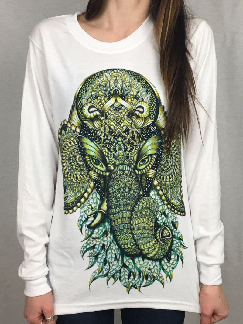 Ganesha Unisex Long Sleeve Shirt Long Sleeve Electro Threads X-Small