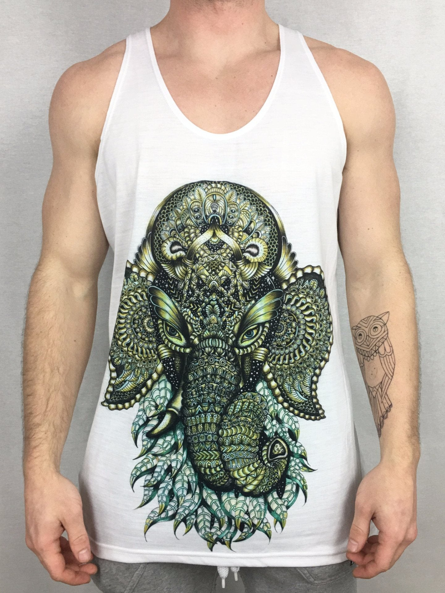 Ganesha Unisex Tank Top Tank Tops Electro Threads