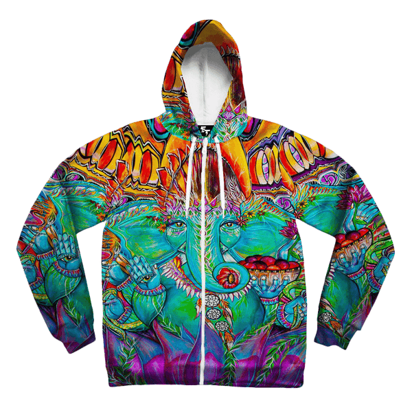 Ganesha Unisex Zip Hoodie Zip-Up Hoodies T6 X-Small