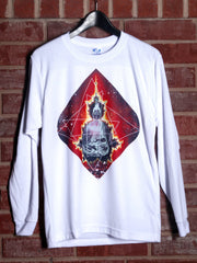 Geo-Buddha Unisex Long Sleeve Shirt Long Sleeve Electro Threads X-Small
