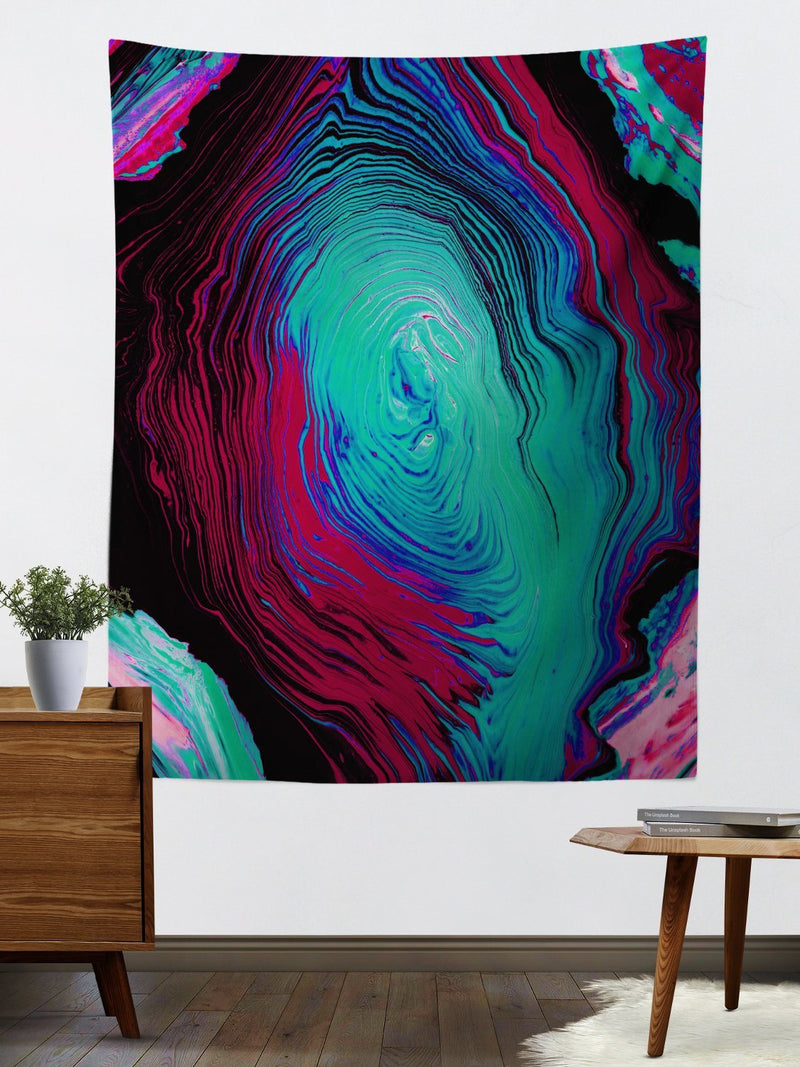 Geode Melt Wall Tapestry Tapestry Electro Threads