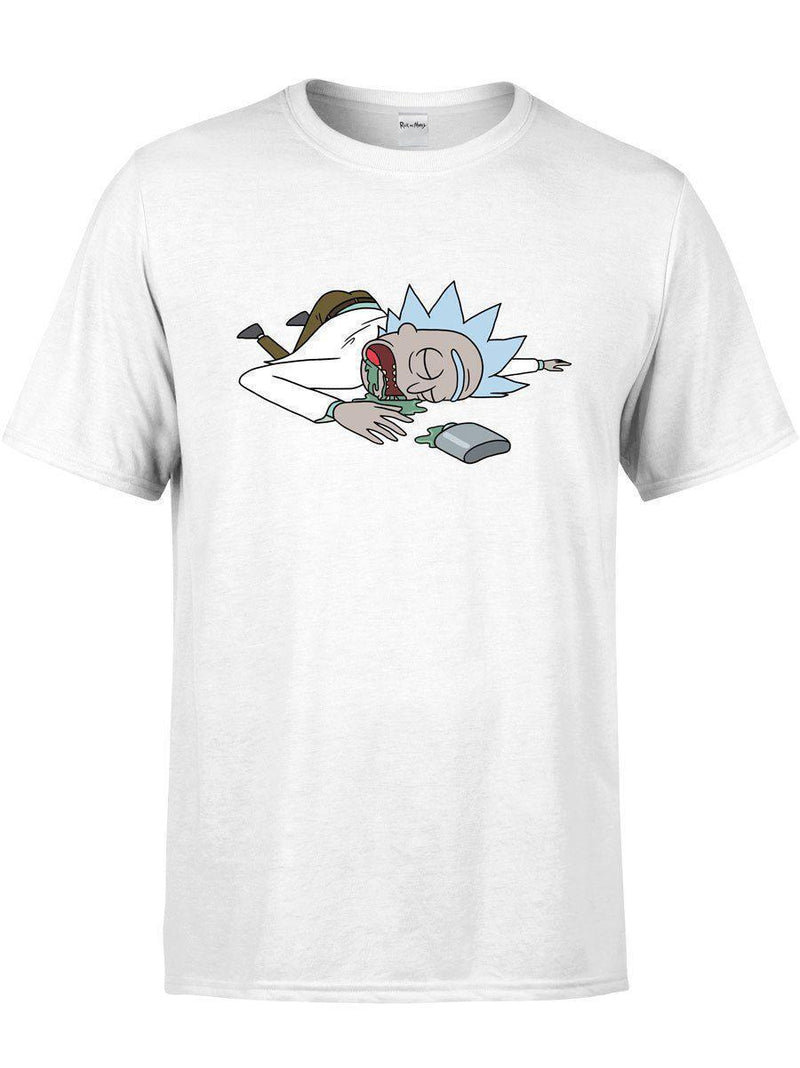 Get Ricked Unisex Crew-T-Shirts-Rick and Morty Licensed Apparel-Electro Threads