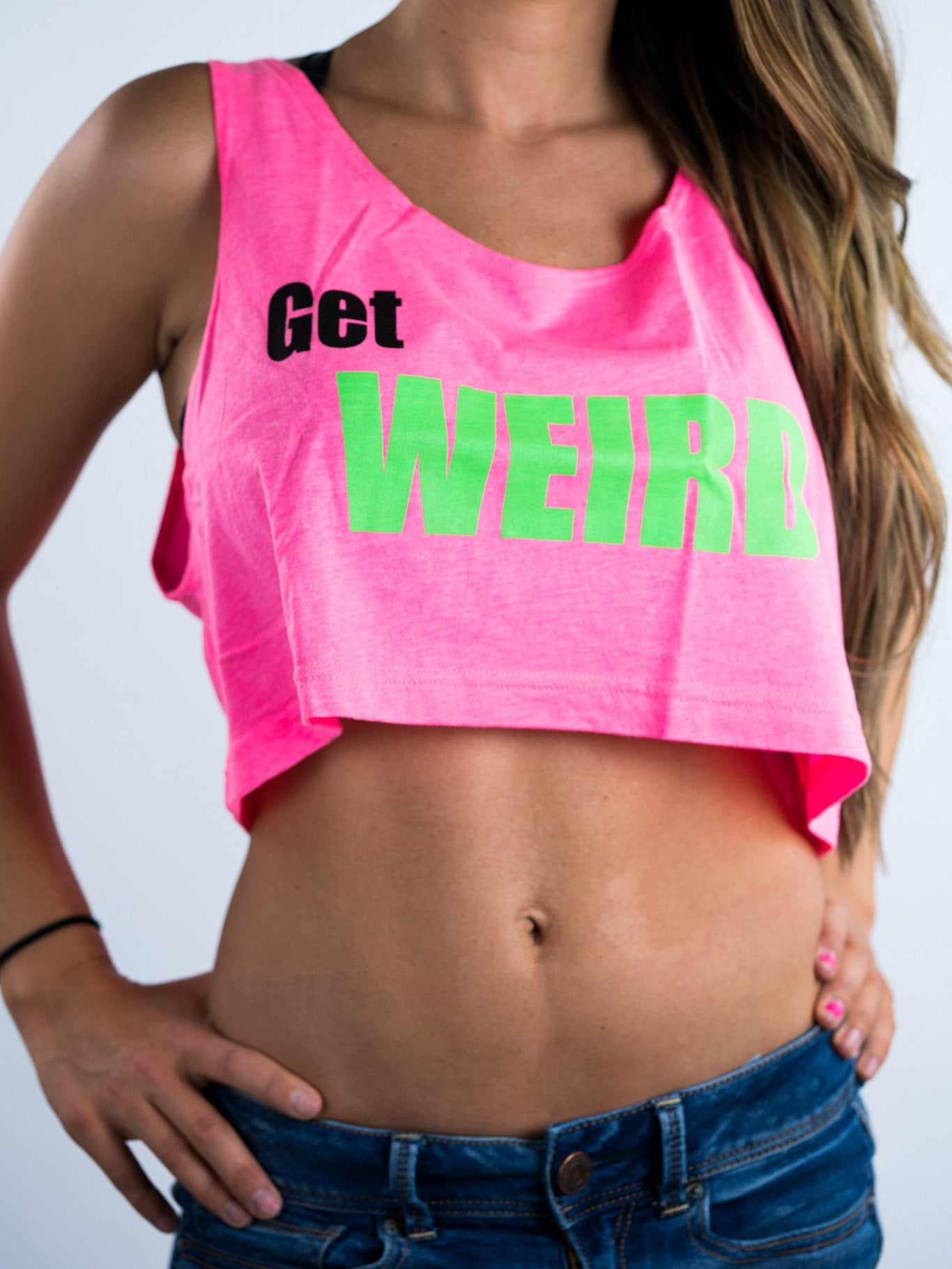 Get Weird Crop Top Crop-tops Electro Threads