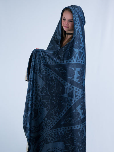 Ghost Mandala Hooded Blanket Hooded Blanket Electro Threads
