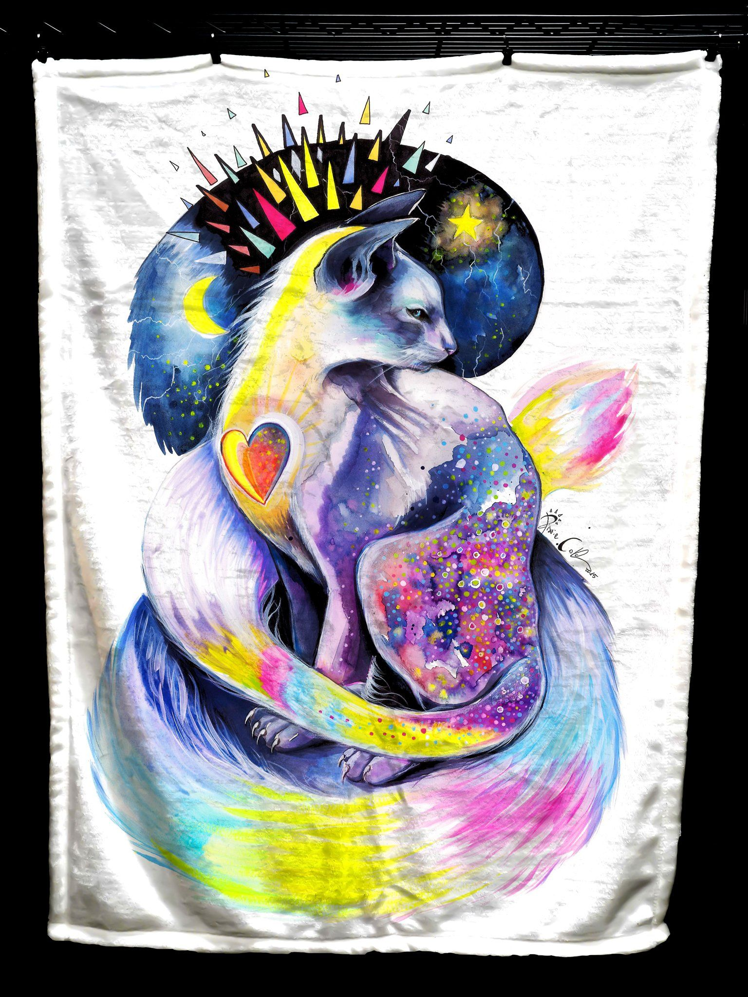 Goddess Of Cats Baby Blanket Baby Blanket Electro Threads