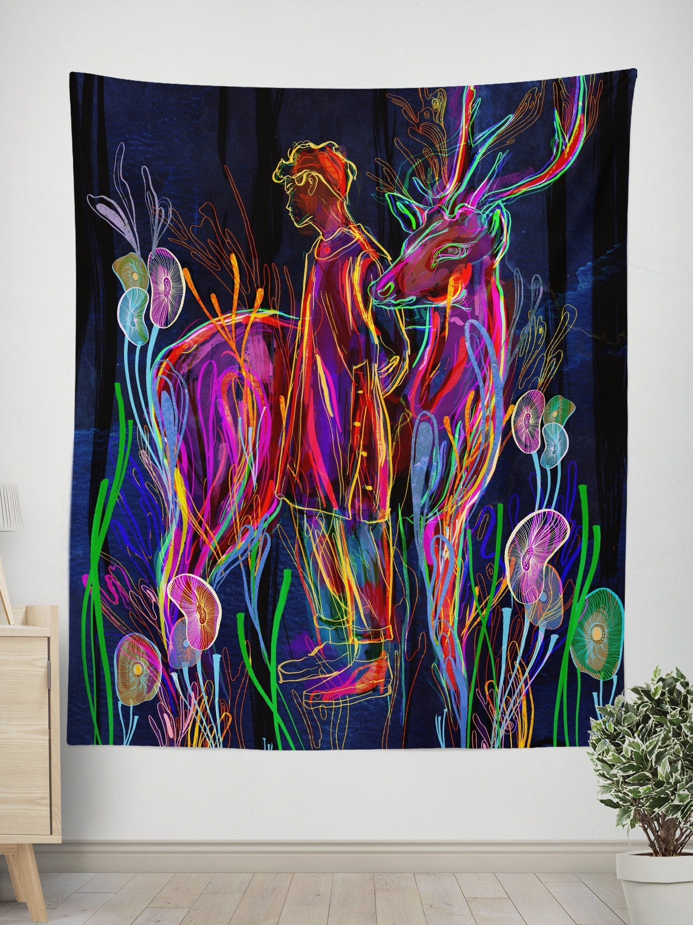 Going By Wall Tapestry Tapestry Electro Threads