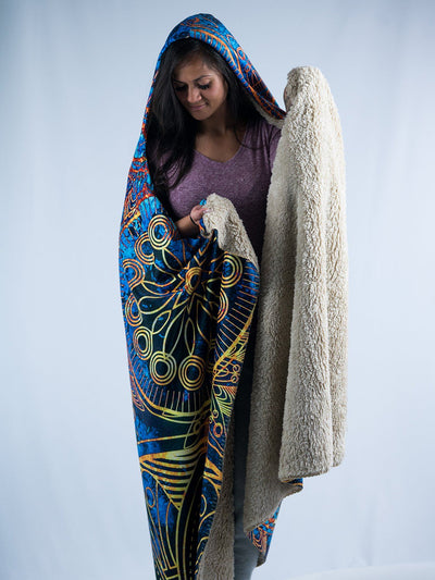 Gold BOHO Hooded Blanket Hooded Blanket Electro Threads