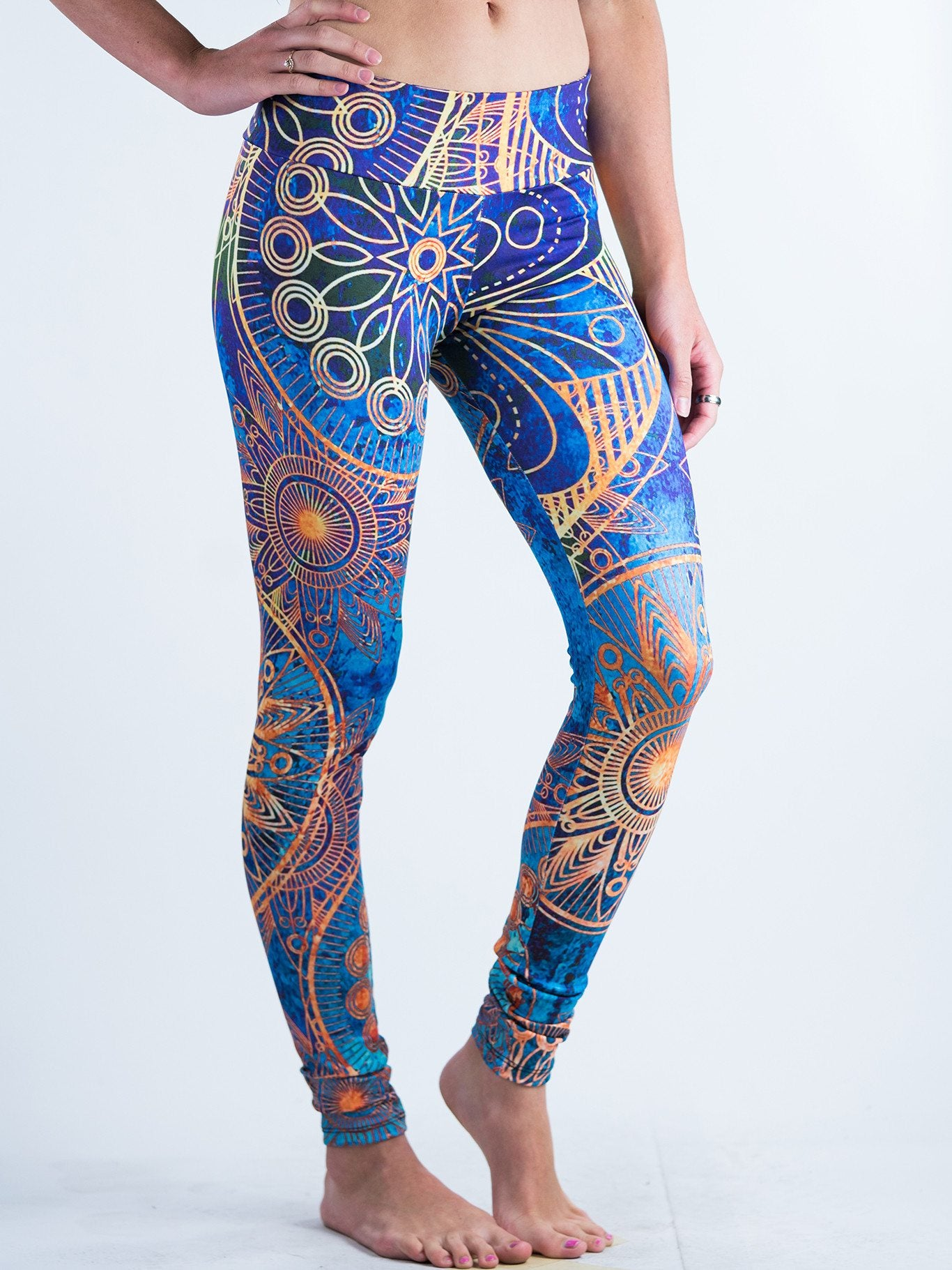 Gold BOHO Leggings Leggings T6 X-Small Blue