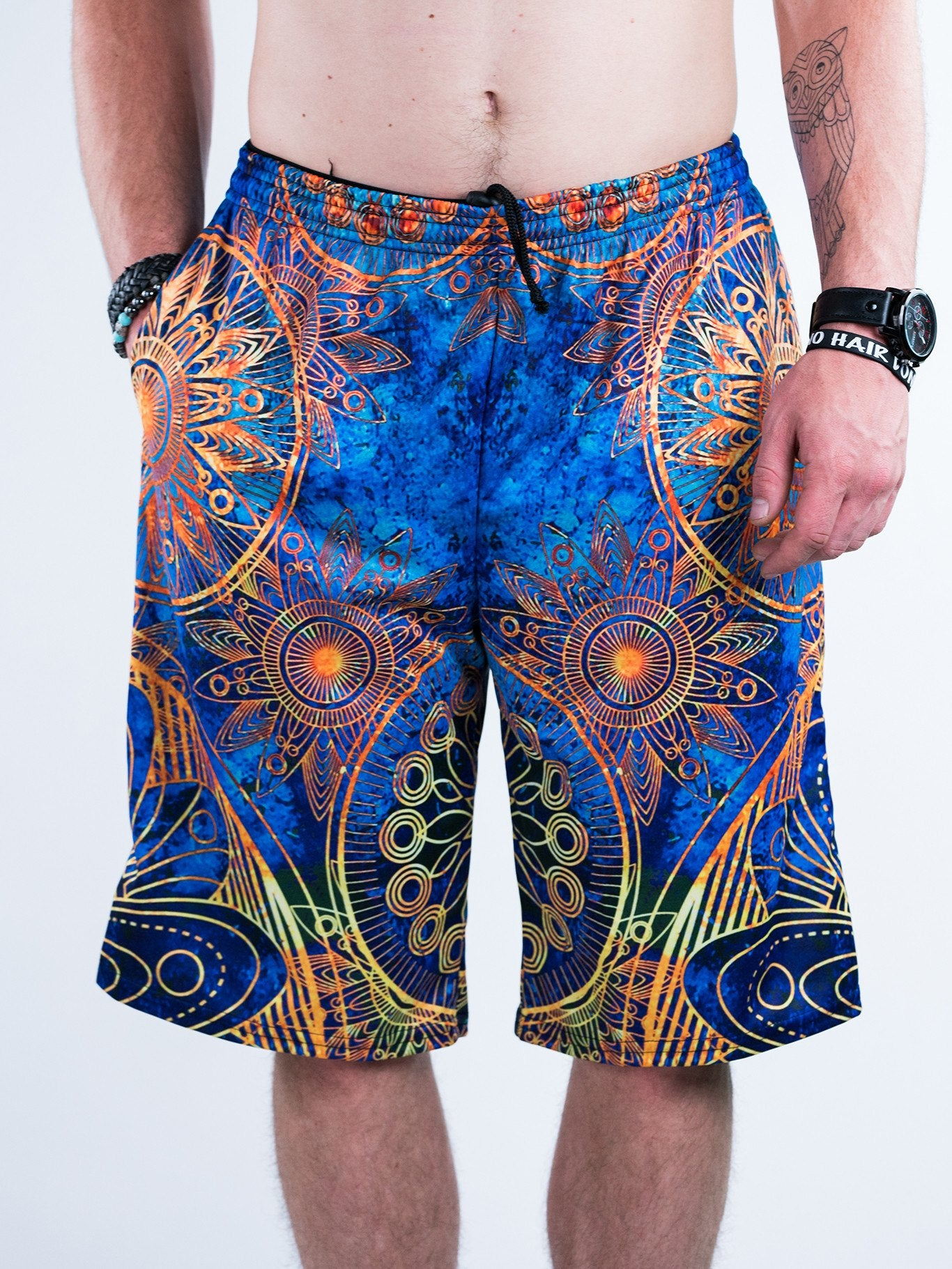 Gold Boho Shorts Mens Shorts T6