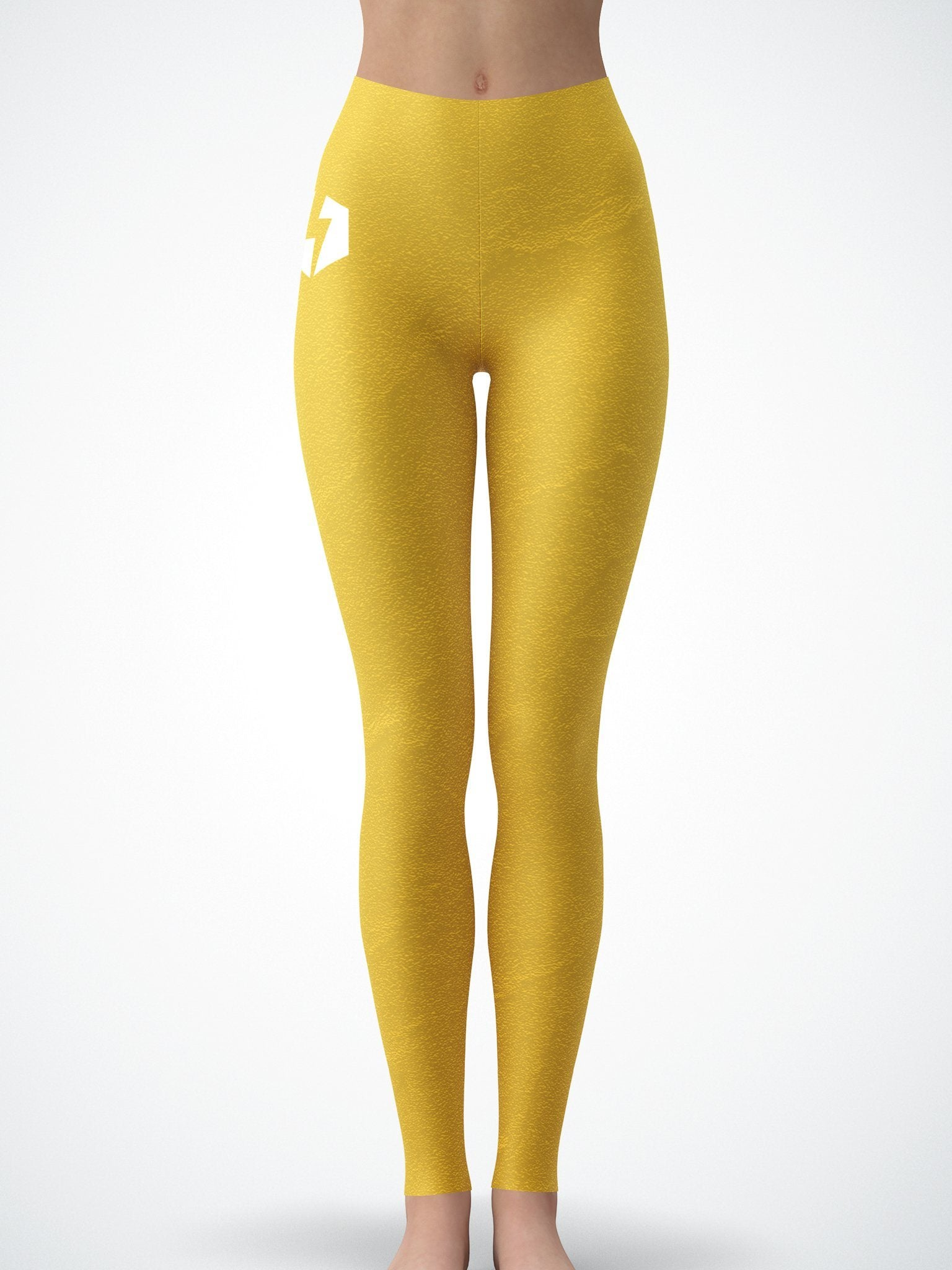 Gold Crushed Velvet Tights Tights Electro Threads