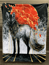 Gold Maned Wolf Blanket Blanket Electro Threads