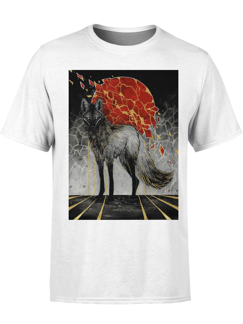 Golden Mane Wolf Unisex Crew T-Shirts Electro Threads