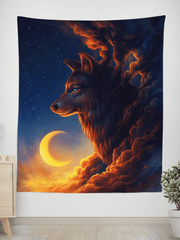 Golden Moon Wall Tapestry Tapestry Electro Threads